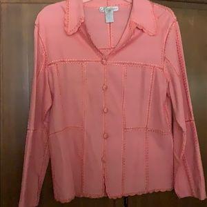 Peach Color Linen Cotton Jacket